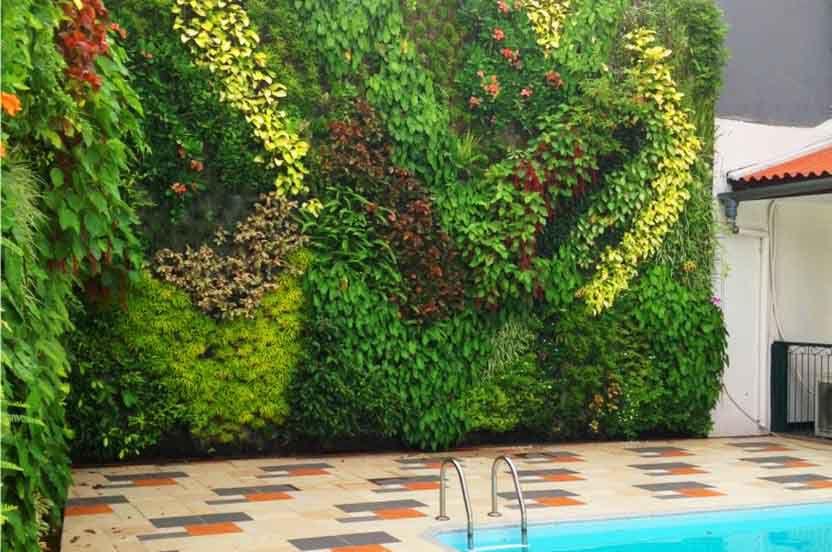 Taman Vertical Garden Jakarta Pusat