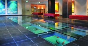 Aquarium Lantai Ruang tamu