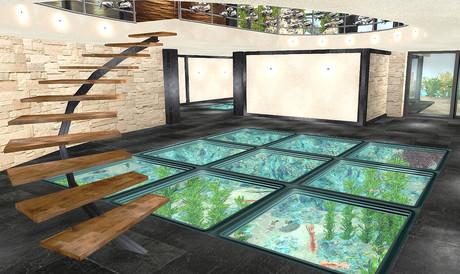 Aquarium Lantai
